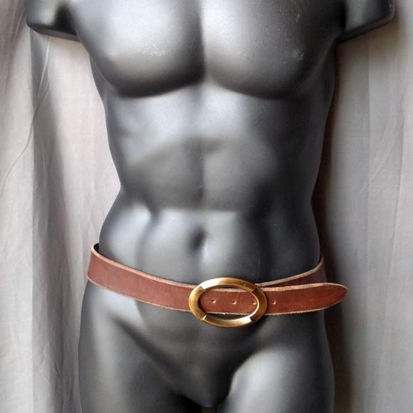 Dolce & Gabbana Other - Dolce & Gabbana Belt Brass Buckle Brown Leather 42